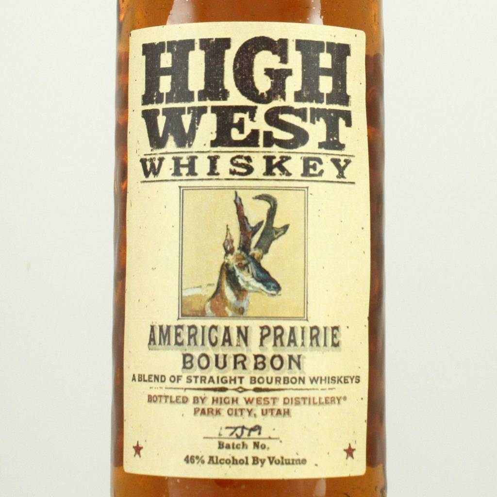 High West Whiskey American Prairie Bourbon, Utah