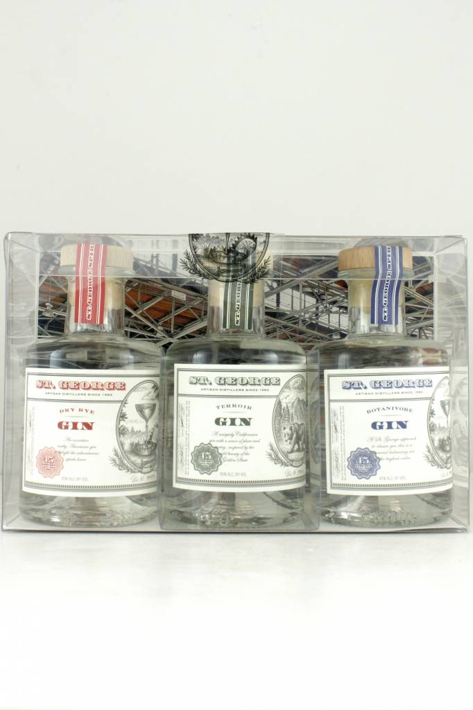 St. George Gin Sampler 3-Pack, 200ml. Bottles