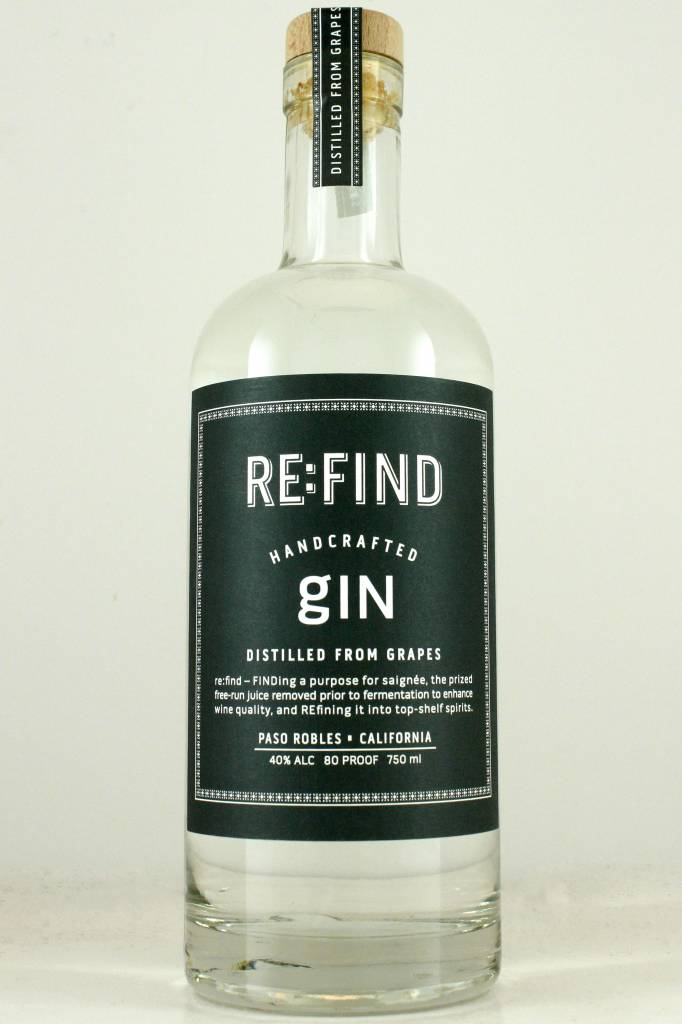 RE:FIND Handcrafted Gin, Paso Robles