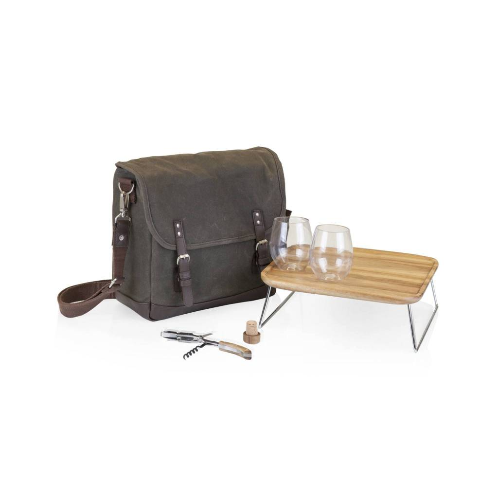 "Picnic Time ""Adventure"" Wine Tote for Two"