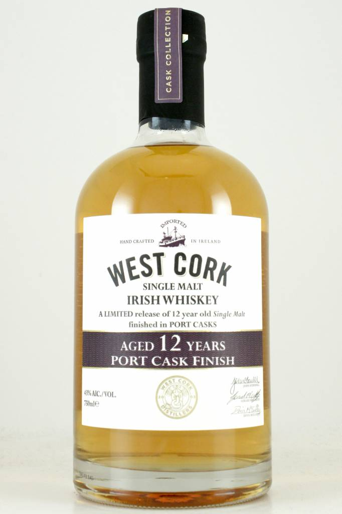 West Cork 12 Year Old Single Malt Irish Whiskey Port Cask Finish