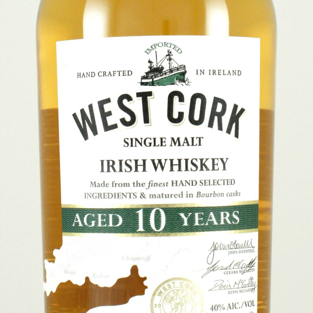 West Cork 10 Year Single Malt Irish Whiskey, Ireland
