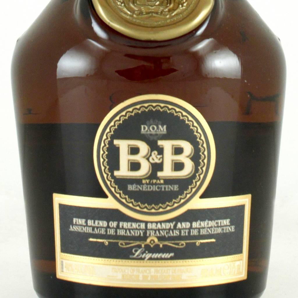D.O.M. Benedictine & Brandy B & B Liqueur, half bottle, France
