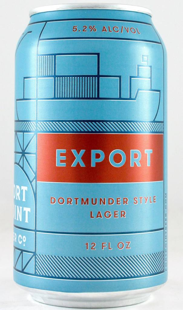 "Fort Point Brewing ""Export"" Dortmunder Style Lager, California - 12oz. can"