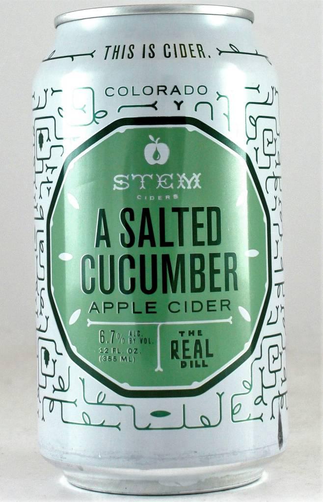 Stem Cider Salted Cucumber Apple Cider