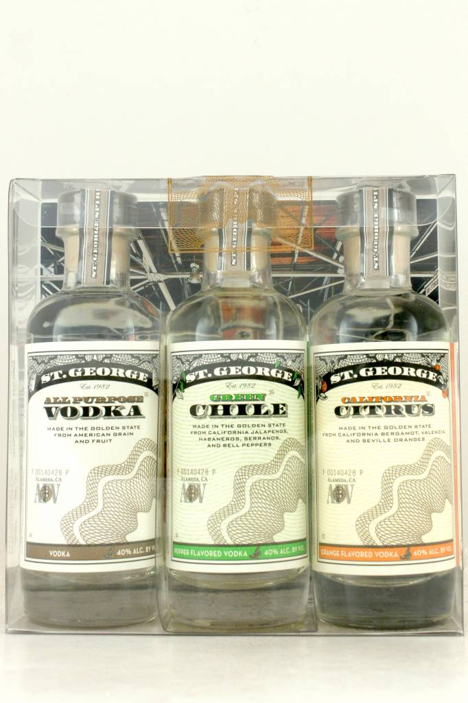 St. George Vodka 200ml 3-Pack Combo