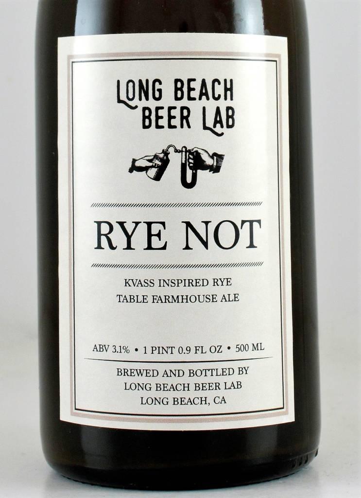Long Beach Beer Lab Rye Not