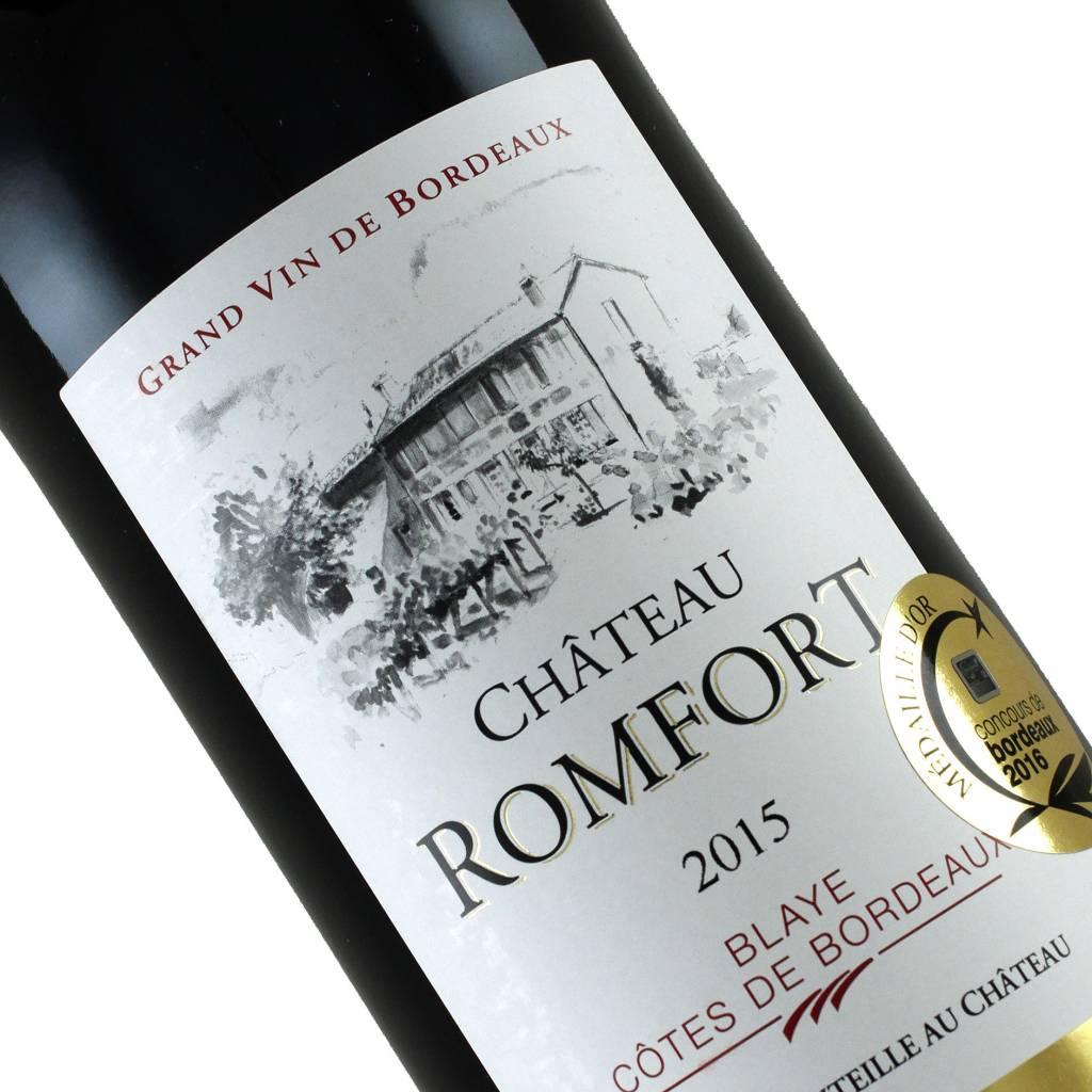 Chateau Romfort 2015 Blaye Cotes de Bordeaux, France--July Wine of the Month!