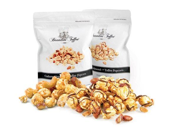 Brandini Cashew Almond Toffee Popcorn 2oz