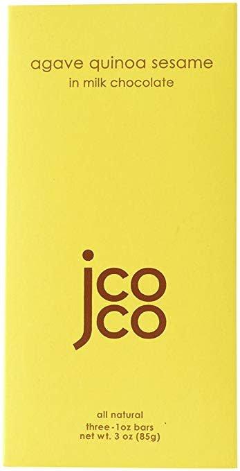 JCOCO Agave Quinoa Sesame in Milk Chocolate Bars