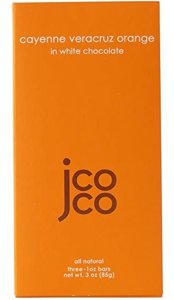 JCOCO Cayenne Veracruz Orange in White Chocolate Bars