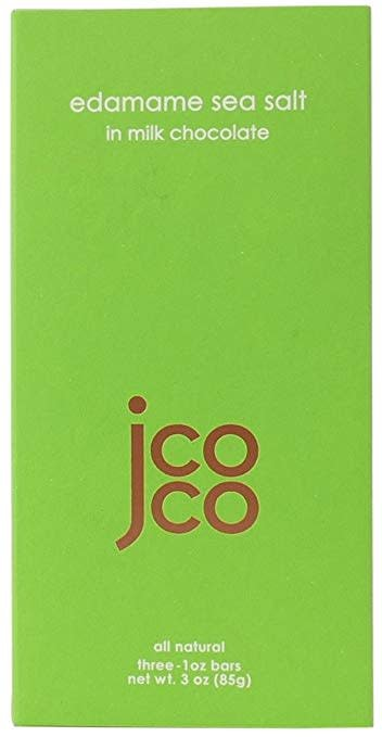 JCOCO Edamame Sea Salt in Milk Chocolate Bars