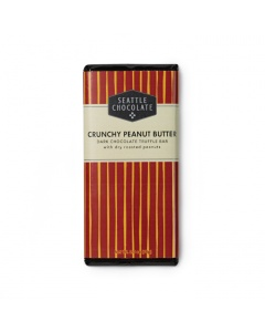 Seattle Chocolate Crunchy Peanut Butter Dark Chocolate Truffle Bar