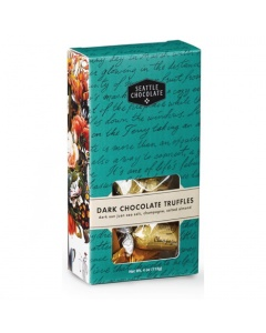 Seattle Chocolate Dark Chocolate Truffles 4 oz. box