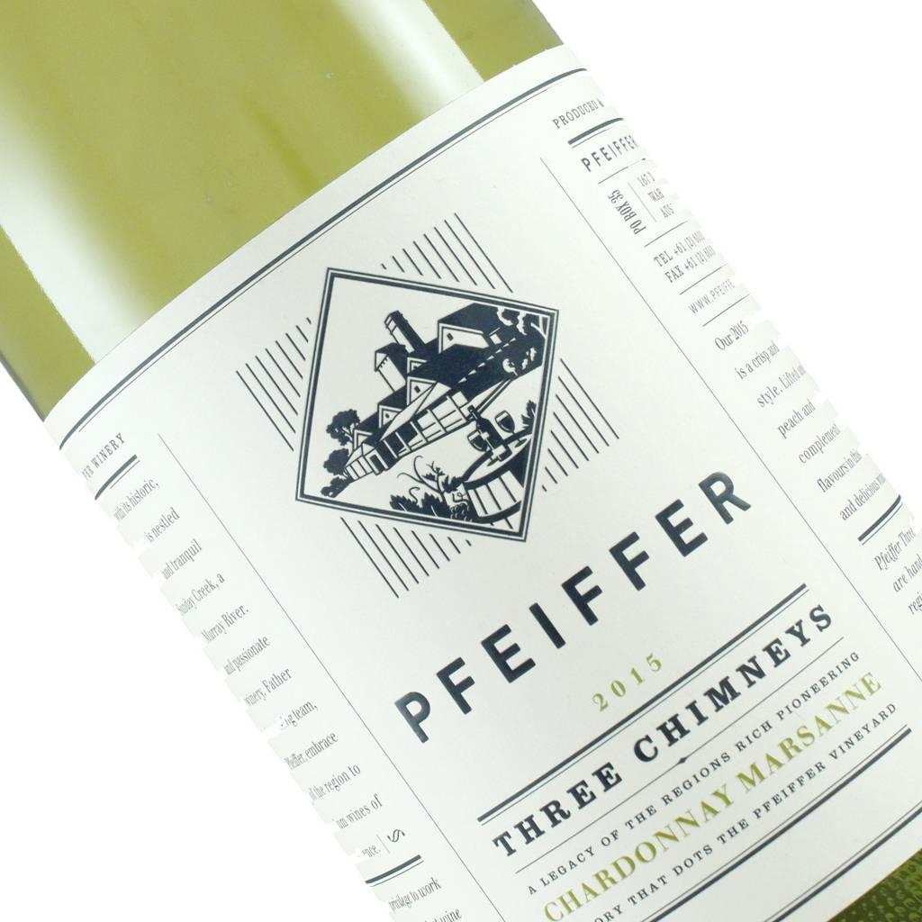 """Pfeiffer 2015 """"Three Chimneys"""" Chardonnay Marsanne White Wine Blend, Australia"""