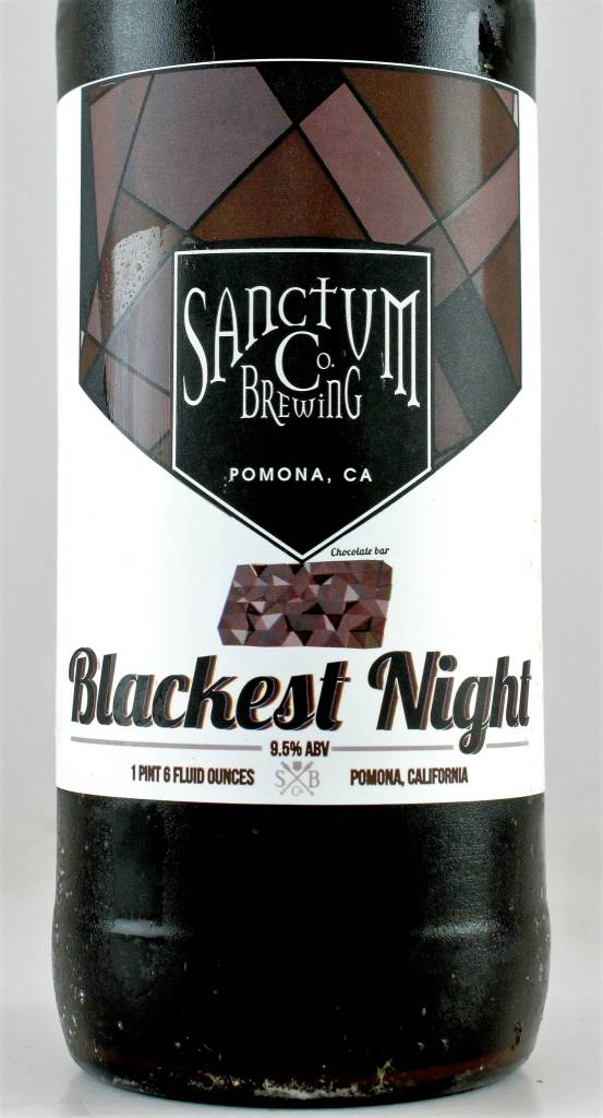 "Sanctum Brewing ""Blackest Night"" Imperial Stout, California"