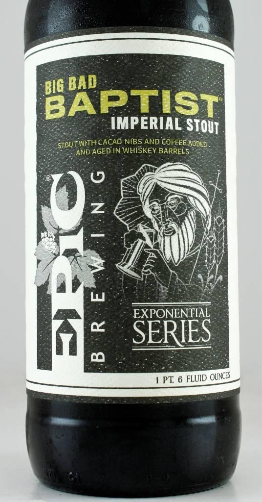 "Epic Brewing ""Big Bad Baptist"" Imperial Stout, Utah"
