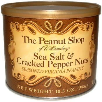 The Peanut Shop Sea Salt & Cracked Pepper Nuts, Williamsburg, Virginia, 10.5 ounce can