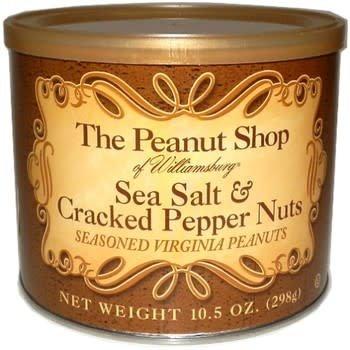 The Peanut Shop Sea Salt & Cracked Pepper Nuts