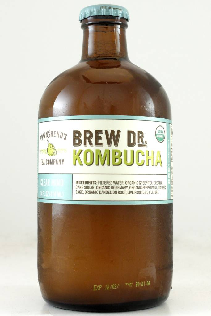 "Brew Dr.  Kombucha ""Clear Mind"" with Rosemary, Peppermint, Sage"