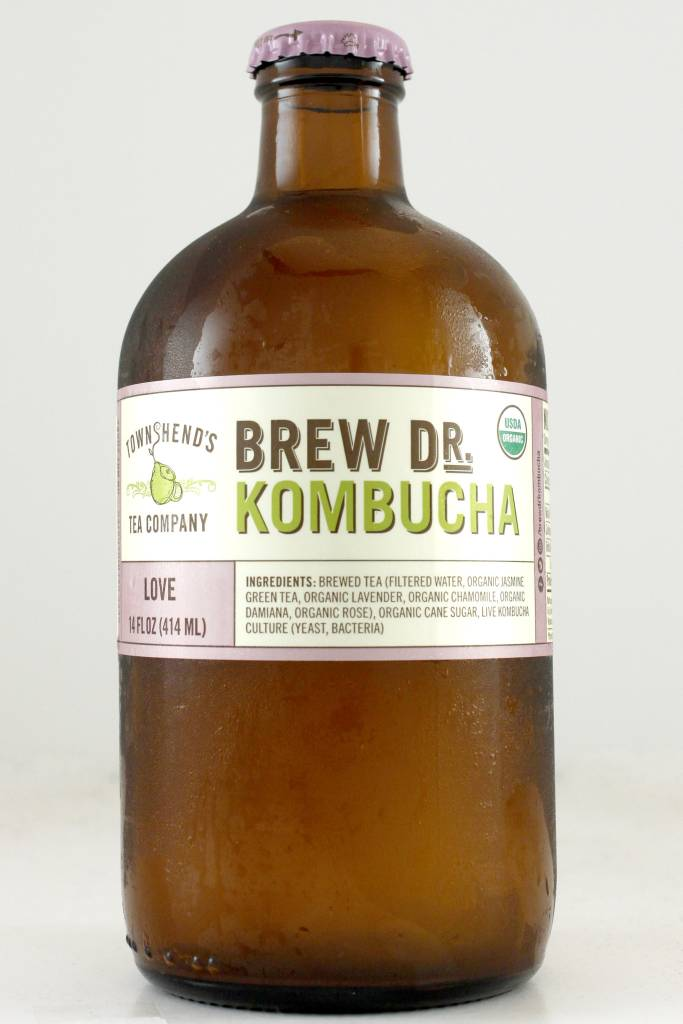 "Brew Dr. Kombucha ""Love"" with Jasmine Green Tea, Lavender, Chamomile, Roses"