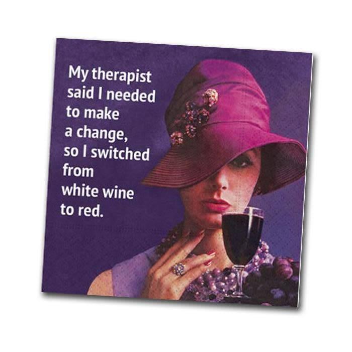 Napkin - Design - My Therapist Said