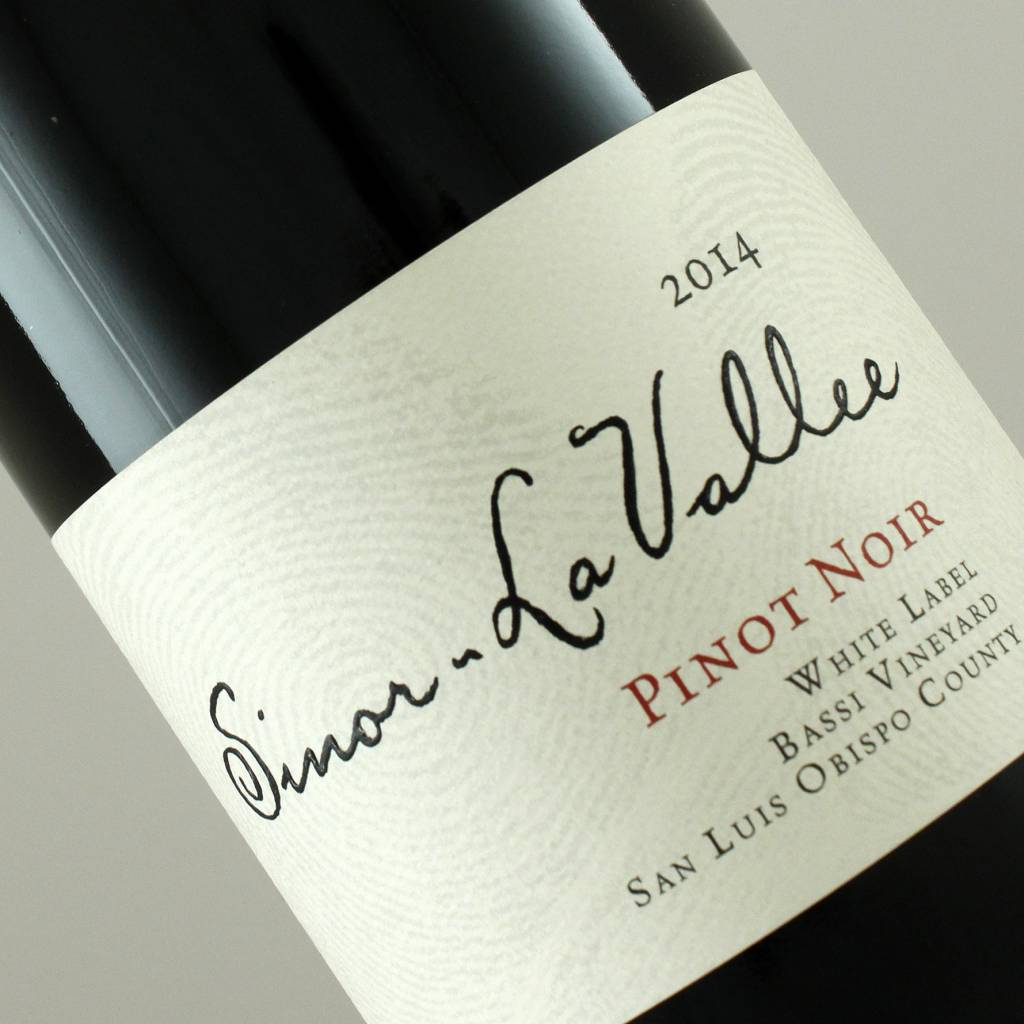 "Sinor-La Vallee 2014 ""White Label"" Pinot Noir, San Luis Obispo County"
