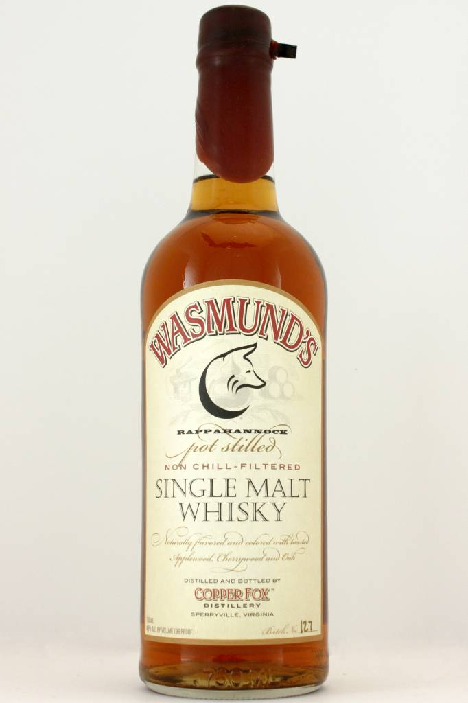 Wasmund Single Malt Whiskey 96 proof