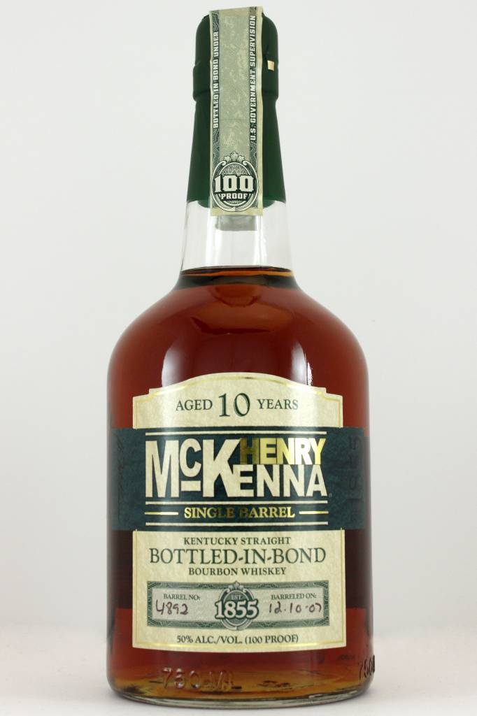 Henry McKenna Kentucky 10 Year Straight Bourbon Whiskey, Kentucky