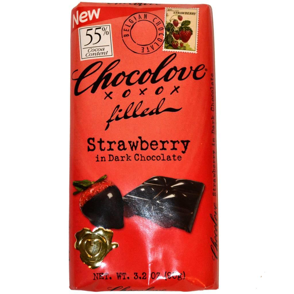 Chocolove Strawberry in Dark Chocolate, Boulder