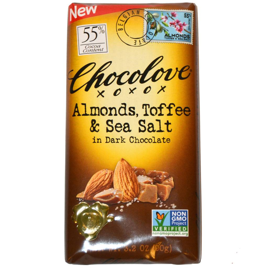 Chocolove Almonds, Toffee & Sea Salt in Dark Chocolate