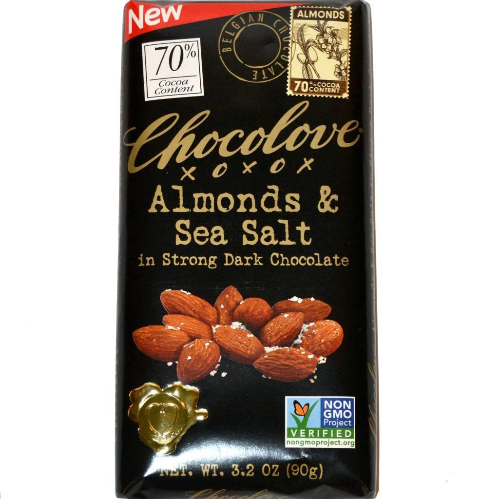 Chocolove Almonds & Sea Salt in Strong Dark Chocolate