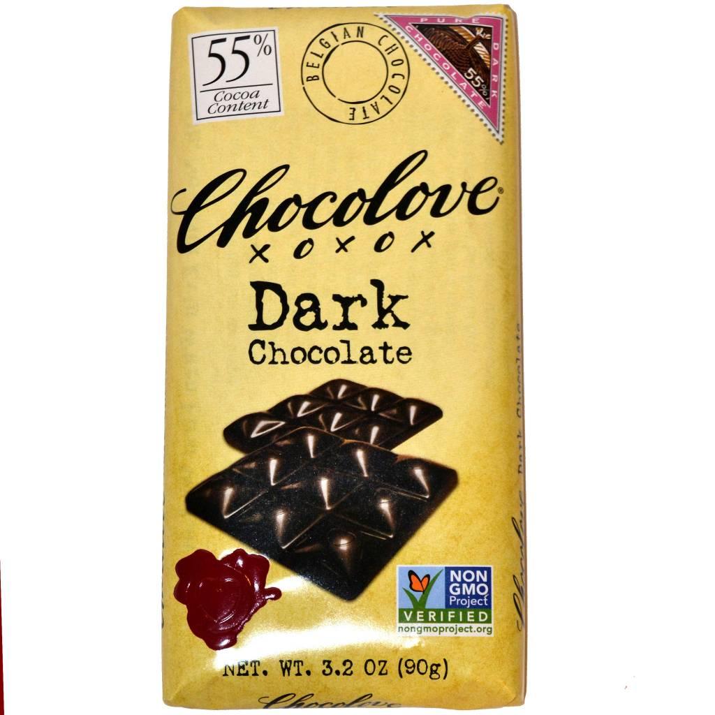 Chocolove 55% Dark Chocolate Bar, Boulder