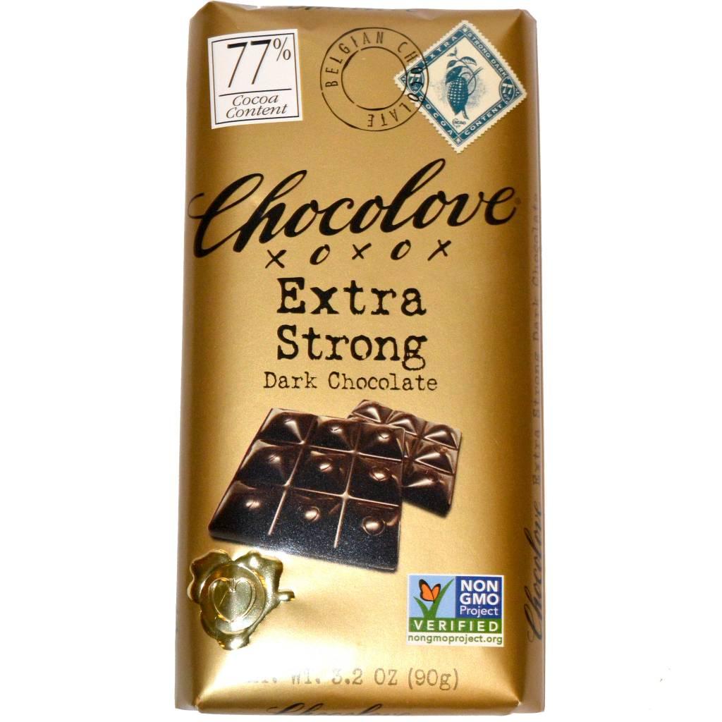 Chocolove 77% Extra Strong Dark Chocolate Bar, Boulder