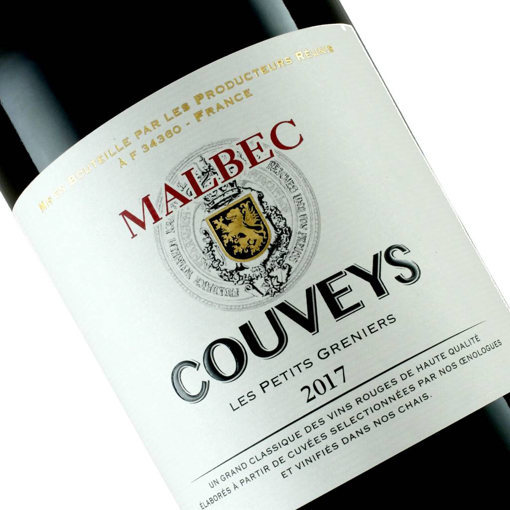 Couveys 2017 Malbec Les Petit Greniers, Pays d'Oc, France — September Wine of the Month!