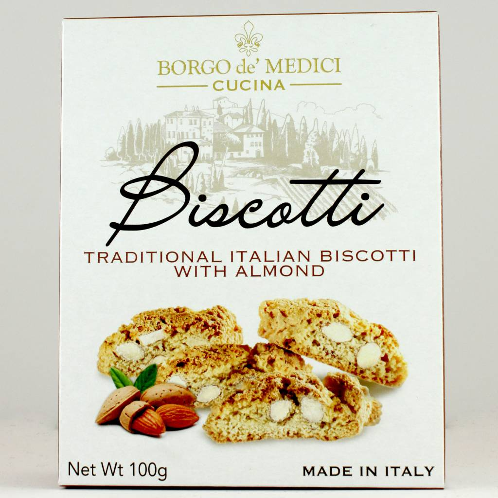 Borgo de' Medici Biscotti Traditional Biscotti with Almonds. Italy