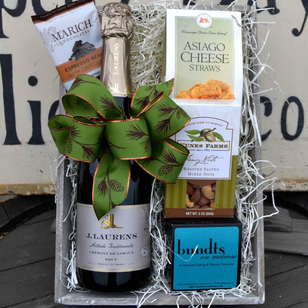 J. Laurens French Sparkling Wine Gift Basket