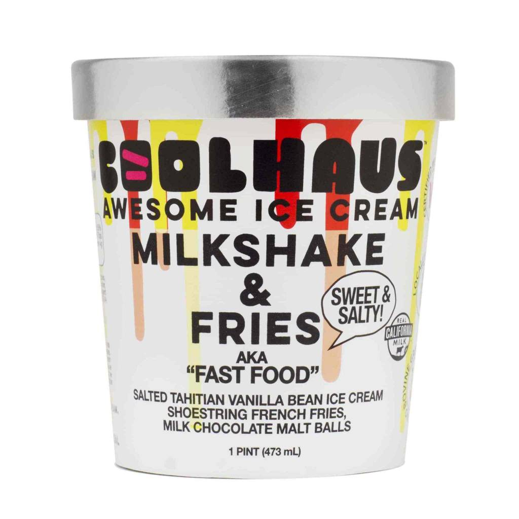 Coolhaus Milkshake & Fries Ice Cream Pint, Los Angeles