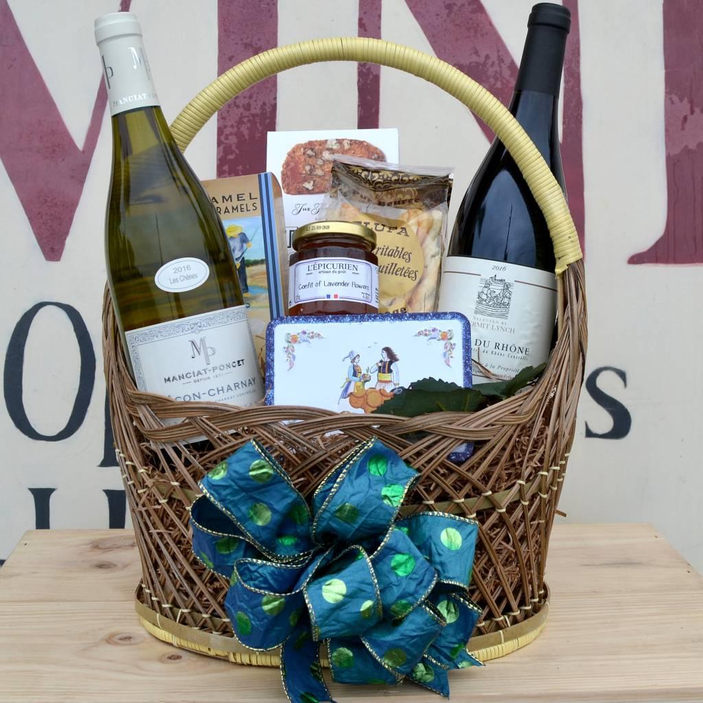 """French Bistro"" French Wine Gift Basket"