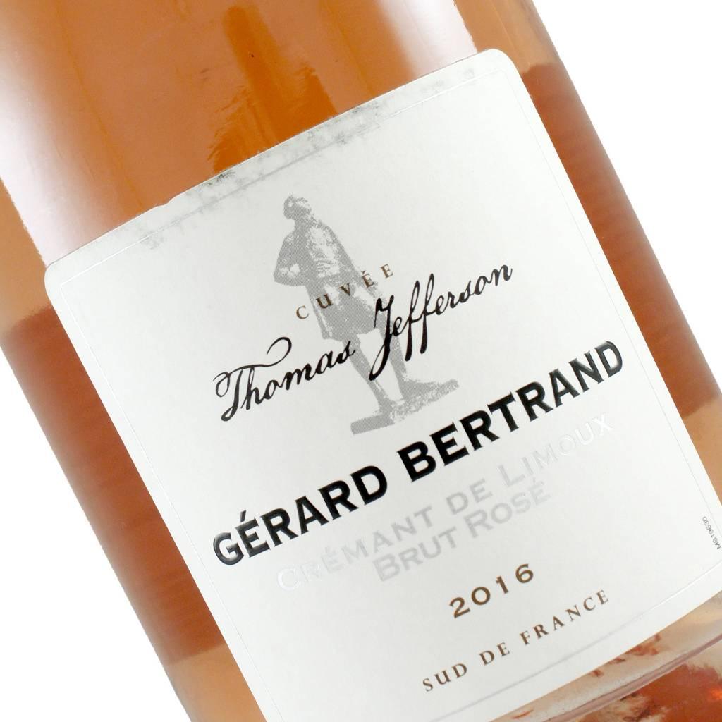 "Gerard Bertrand 2016 Cremant De Limoux Brut Rose ""Cuvee Thomas Jefferson"""