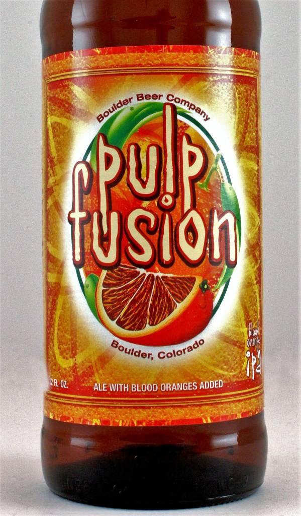 """Boulder Beer """"Pulp Fusion"""" Ale with Blood Oranges, Colorado"""