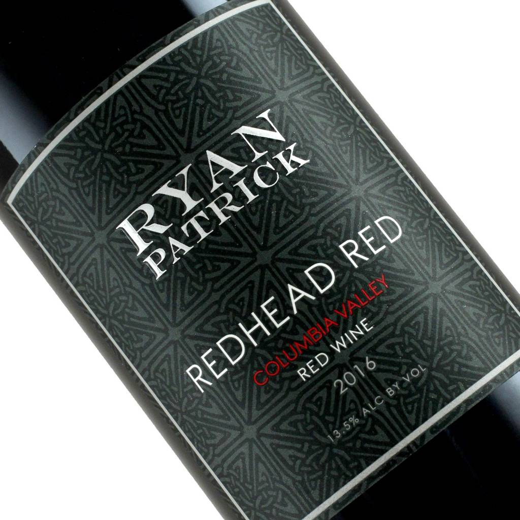 """Ryan Patrick 2016 """"Redhead Red"""" Red Wine Columbia Valley, Washington--October Wine of The Month"""