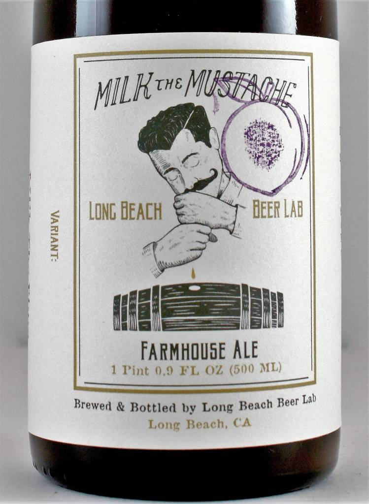 "Long Beach Beer Lab ""Milk the Mustache - Original"" Farmhouse Ale"