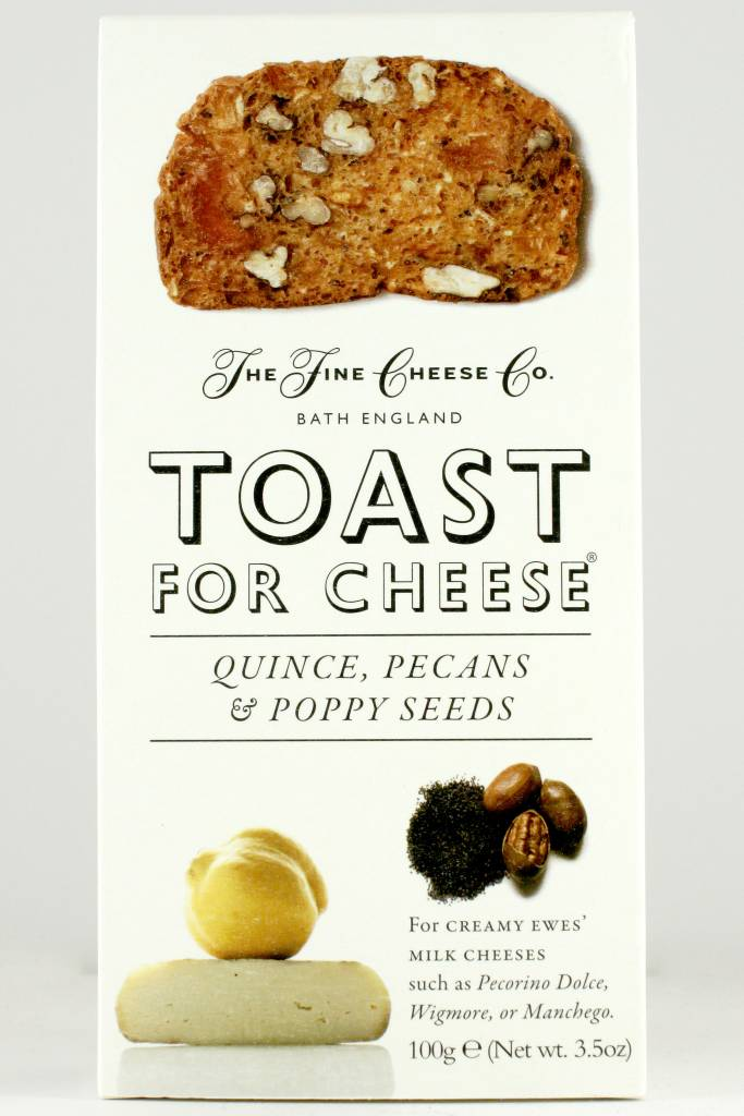 Fine Cheese Co. Toast For Cheese with Quince, Pecans & Poppy Seeds