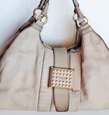Tod's Cream Sheen Leather Tote