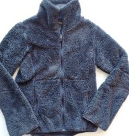 Womens Eddie Bauer Fuzzy Grey Fleece Jacket (S)