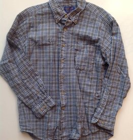 Mens Pendleton Blue Plaid Flannel Button Up (L)