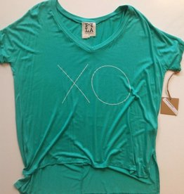 PPLA Kelly Green & White XO Tee (S)