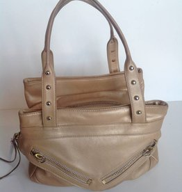 Botkier Gold Leather Tote