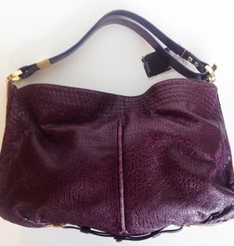 Jimmy Choo Purple Leather Hobo Tote